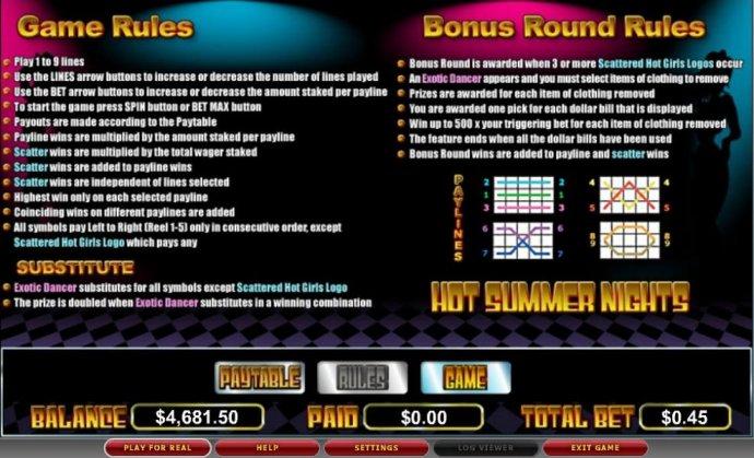 Hot Summer Nights screenshot