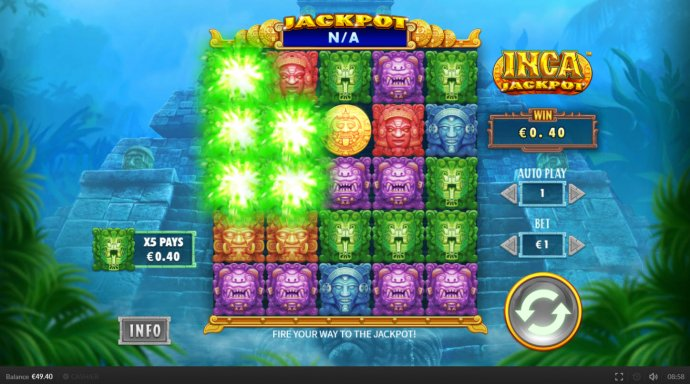 Winning symbols are removed from the reels and new symbols drop in place by No Deposit Casino Guide