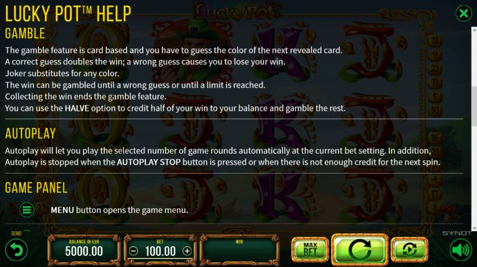 No Deposit Casino Guide image of Lucky Pot