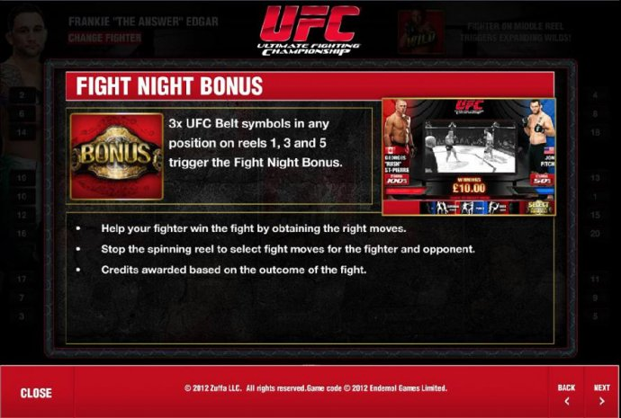 fight night bonus rules and how to play by No Deposit Casino Guide