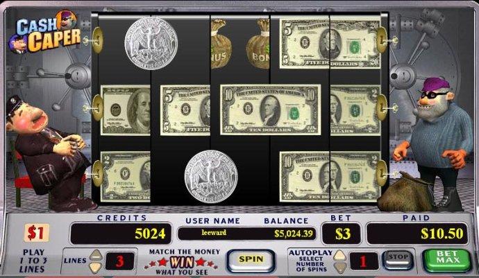 Cash Caper by No Deposit Casino Guide