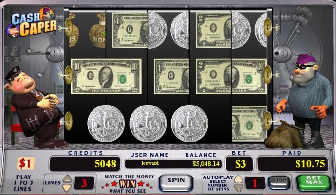 No Deposit Casino Guide image of Cash Caper