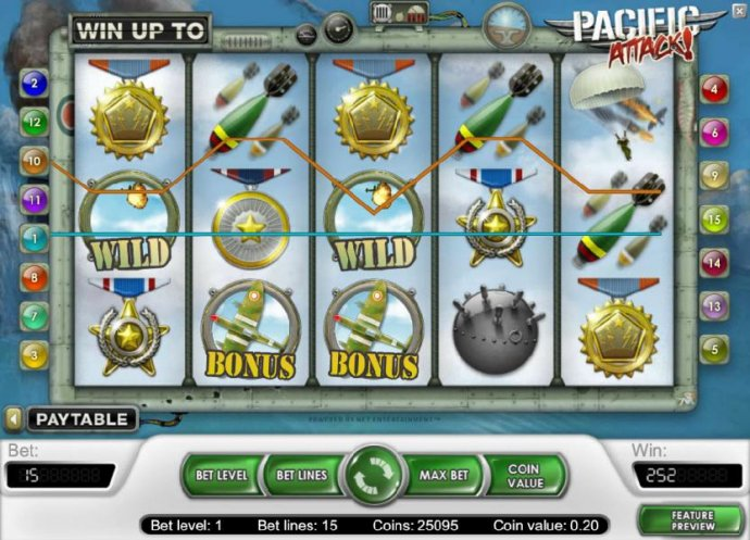 252 coin  big win jckpot triggered by multiple winning paylines - No Deposit Casino Guide