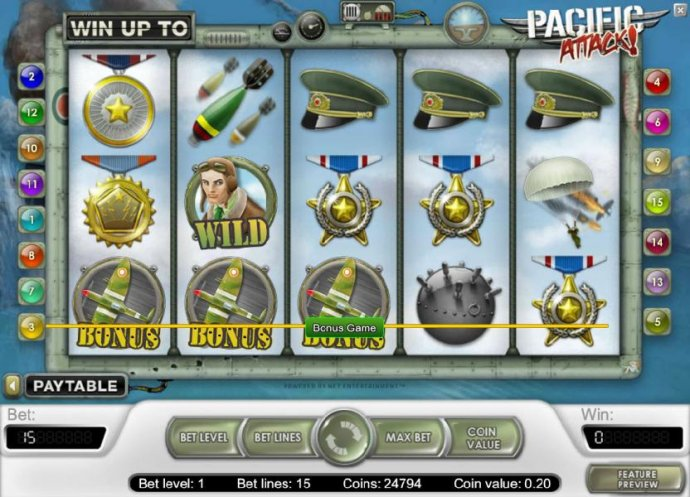 Pacific Attack by No Deposit Casino Guide
