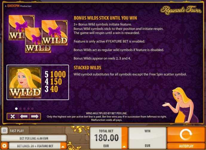 No Deposit Casino Guide image of Rapunzel's Tower (old)