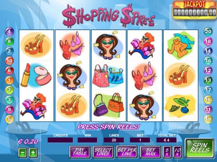 No Deposit Casino Guide image of Shopping Spree