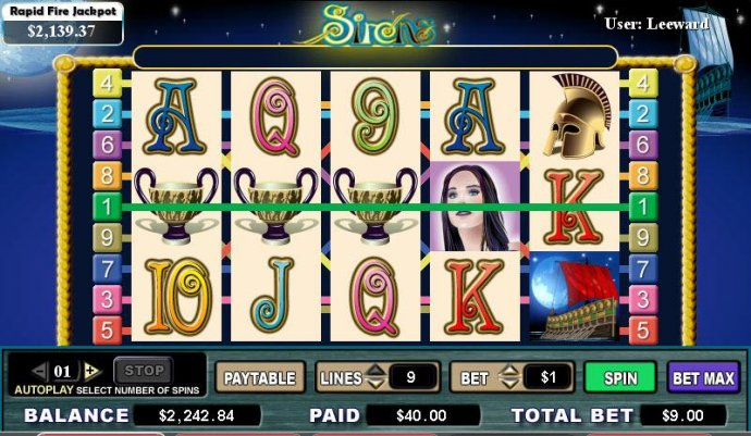 Sirens by No Deposit Casino Guide