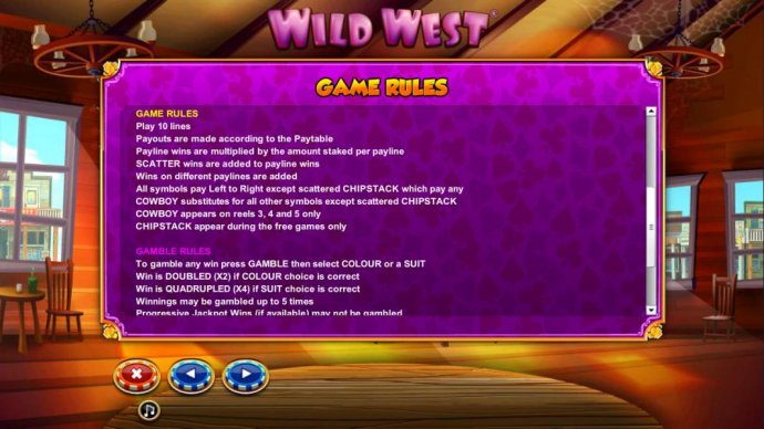 General game rules and gamble feature rules - No Deposit Casino Guide