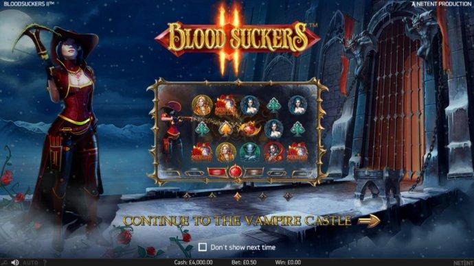 Splash screen - game loading - Vampire Theme - No Deposit Casino Guide