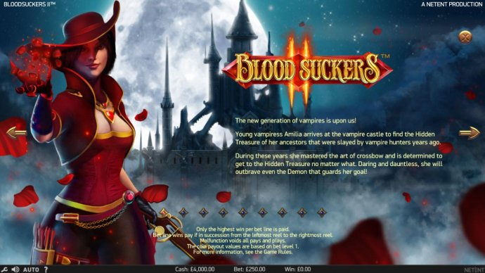No Deposit Casino Guide - Young vampiress Amilia arrives at the vampire castle to find the hidden treasure of her ancestors that were slayed by vampire hunters years ago.