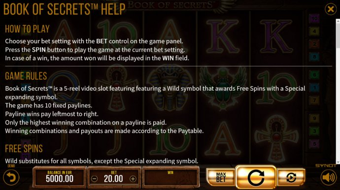 Book of Secrets screenshot