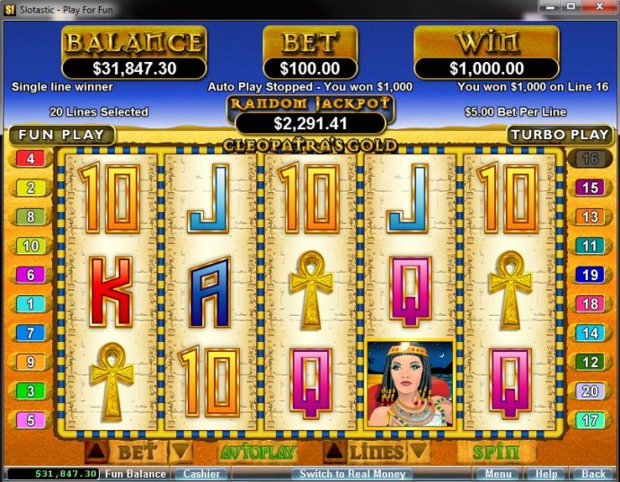 Cleopatra's Gold by No Deposit Casino Guide