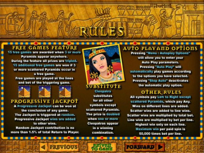 No Deposit Casino Guide image of Cleopatra's Gold