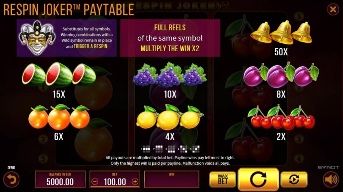 Respin Joker by No Deposit Casino Guide