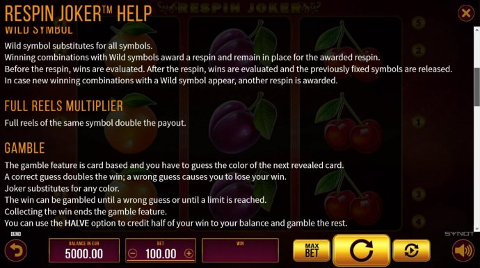 Respin Joker screenshot