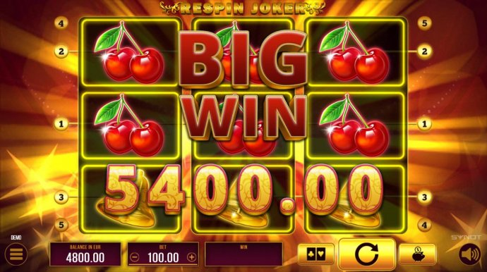 A 5400 coin big win by No Deposit Casino Guide