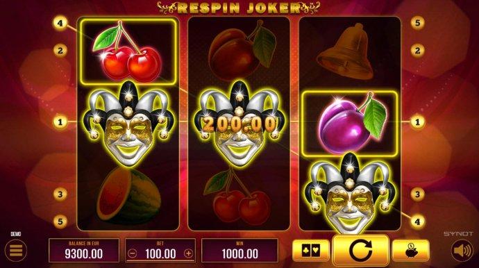 No Deposit Casino Guide - Joker symbols trigger a respin