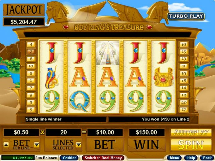 Boy King's Treasure by No Deposit Casino Guide