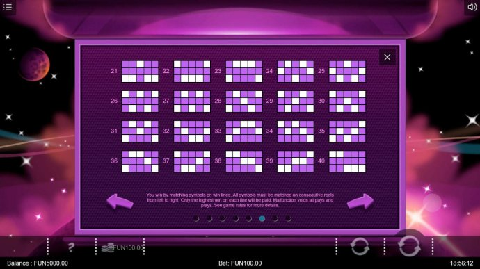 Payline Diagrams 21-40 by No Deposit Casino Guide