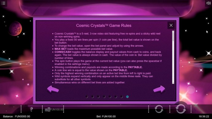 Cosmic Crytsals by No Deposit Casino Guide