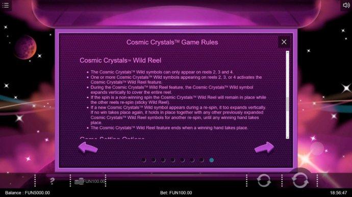 No Deposit Casino Guide image of Cosmic Crytsals