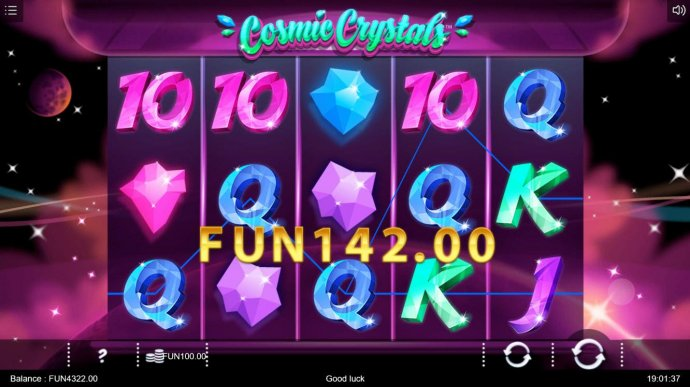 A pair of winning paylines leads to a 142.00 jackpot. by No Deposit Casino Guide