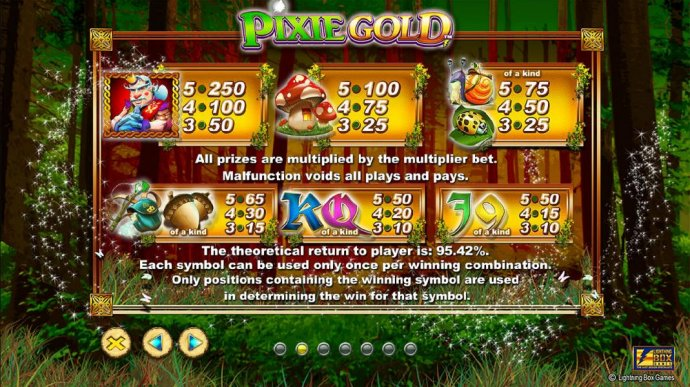 Slot game symbols paytable - high value symbols include a king, mushrooms and a snail. - No Deposit Casino Guide