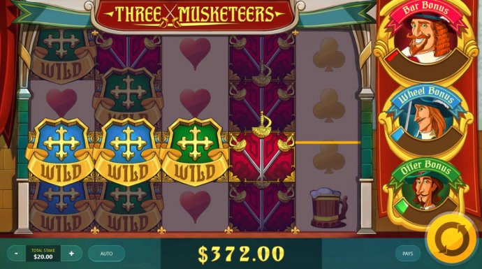 Three Musketeers by No Deposit Casino Guide
