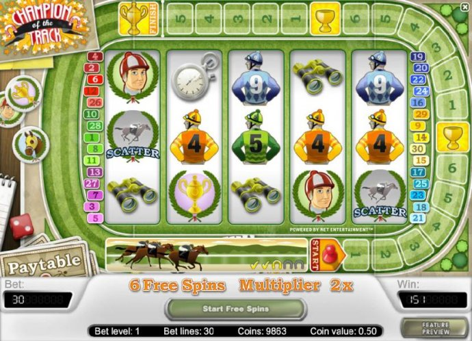 No Deposit Casino Guide image of Champion Of The Track