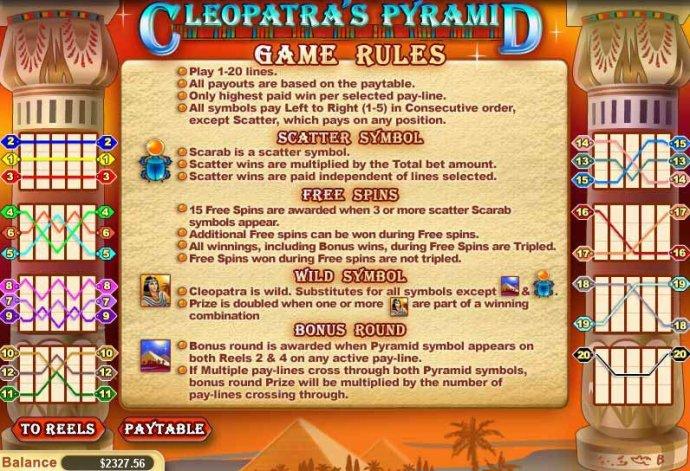 Cleopatra's Pyramid screenshot