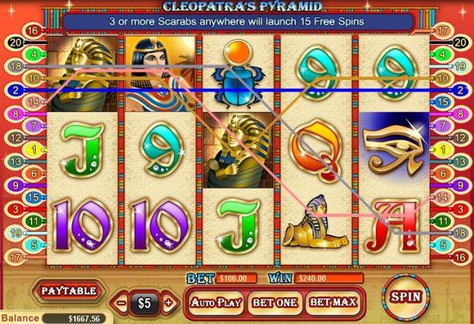 No Deposit Casino Guide image of Cleopatra's Pyramid