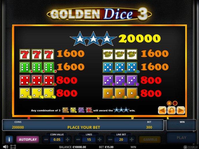 Golden Dice 3 screenshot