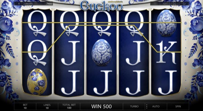 A 500 coin jackpot is triggered by a pair of winning four of a kinds. by No Deposit Casino Guide