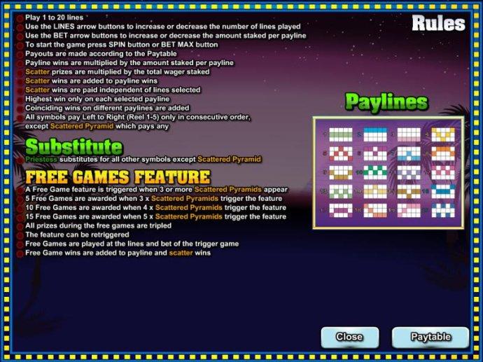 No Deposit Casino Guide image of Platinum Pyramid