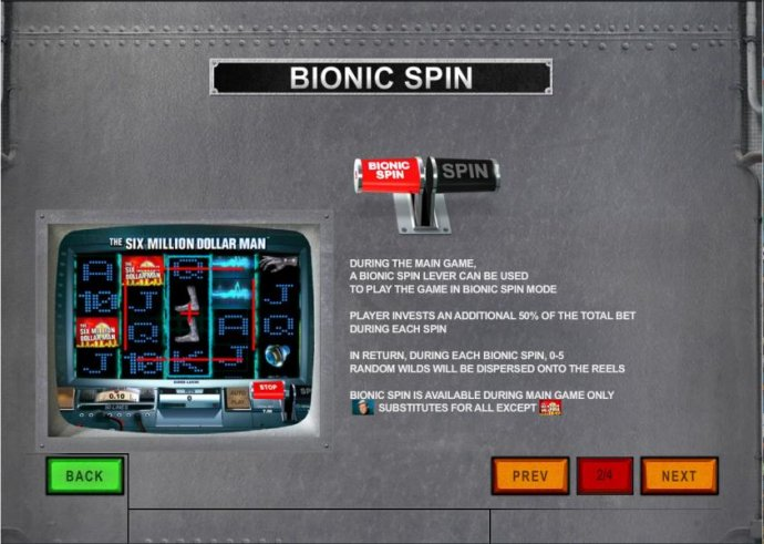No Deposit Casino Guide - player invests an additional 50% of the total bet during each spin