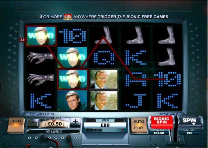 No Deposit Casino Guide image of The Six Million Dollar Man