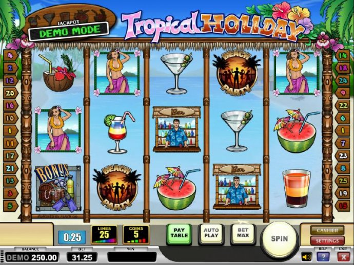 Tropical Holiday screenshot