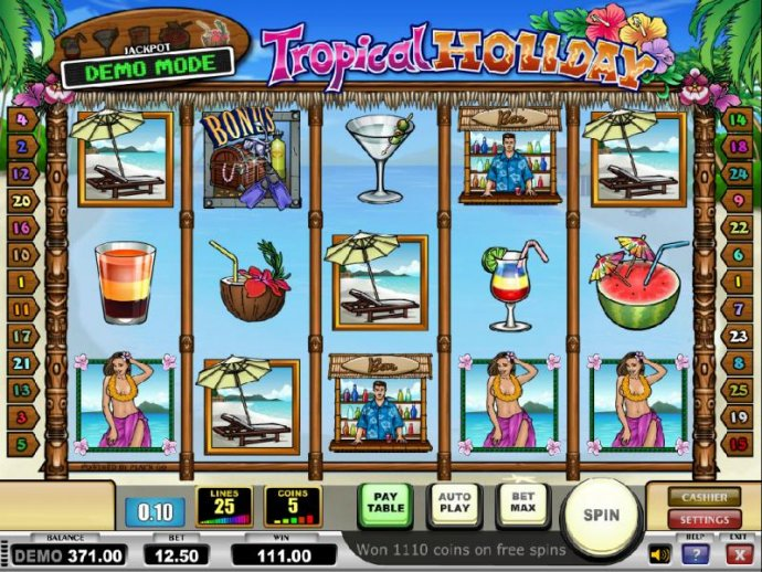 the free spins feature pays out a total of $111 by No Deposit Casino Guide