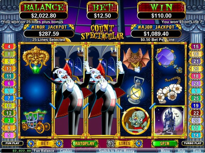 No Deposit Casino Guide image of Count Spectacular