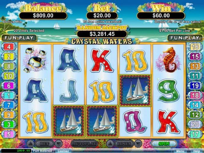 Crystal Waters by No Deposit Casino Guide