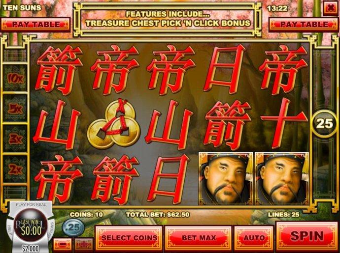 No Deposit Casino Guide image of Ten Suns