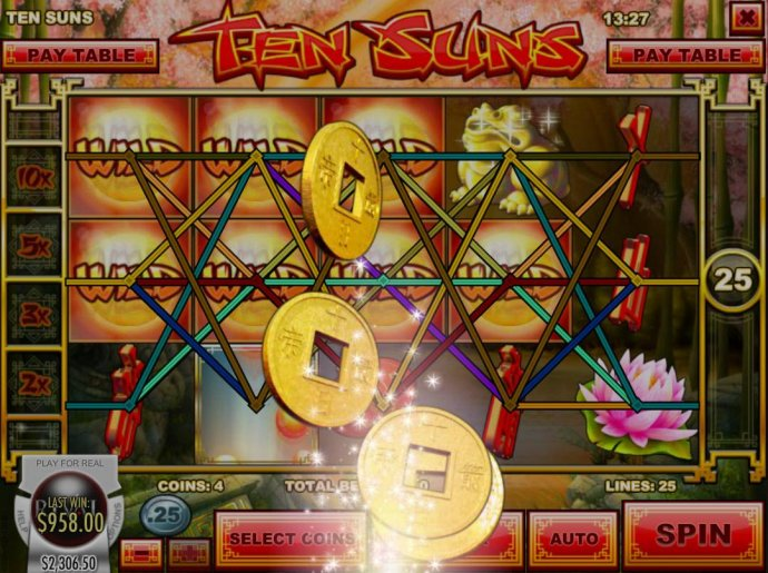 Expanding wild triggers multiple winning paylines by No Deposit Casino Guide
