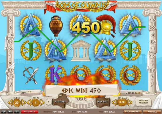 Five of a Kind leads to a 450 coin epix win! by No Deposit Casino Guide