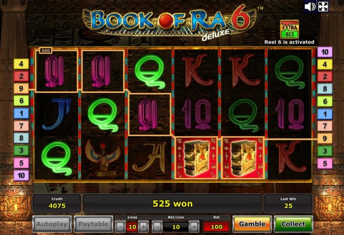 No Deposit Casino Guide image of Book of Ra Deluxe 6