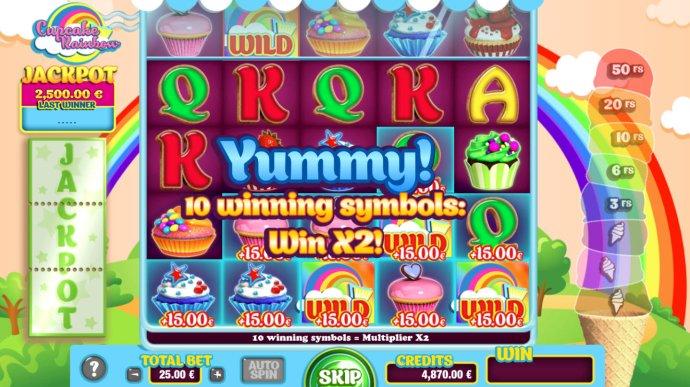 No Deposit Casino Guide image of Cupcake Rainbow