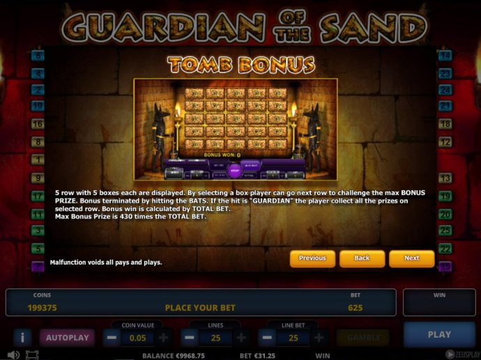 No Deposit Casino Guide - Tomb Bonus Rules