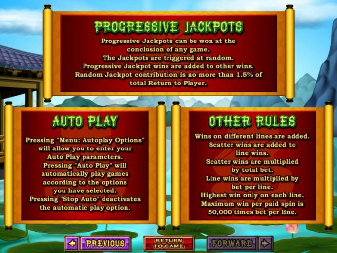 No Deposit Casino Guide - Progressive jackpots, autoplay and other game related rules
