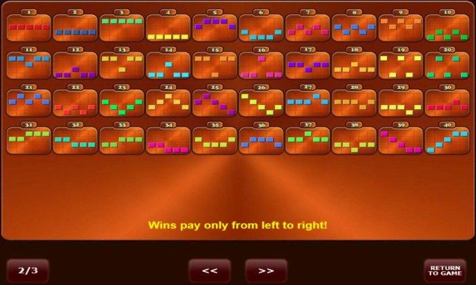 No Deposit Casino Guide - Win Lines 1-40