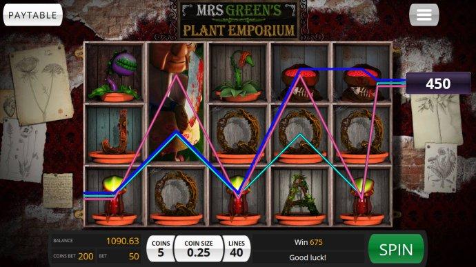 No Deposit Casino Guide image of Mrs. Green's Plant Emporium