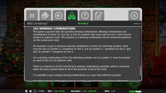 243 Winning Combinations Rules - No Deposit Casino Guide